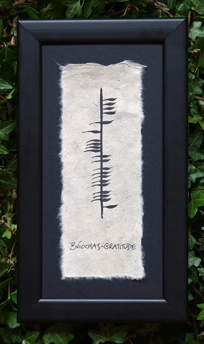 Gratitude - Irish Made Single Ogham