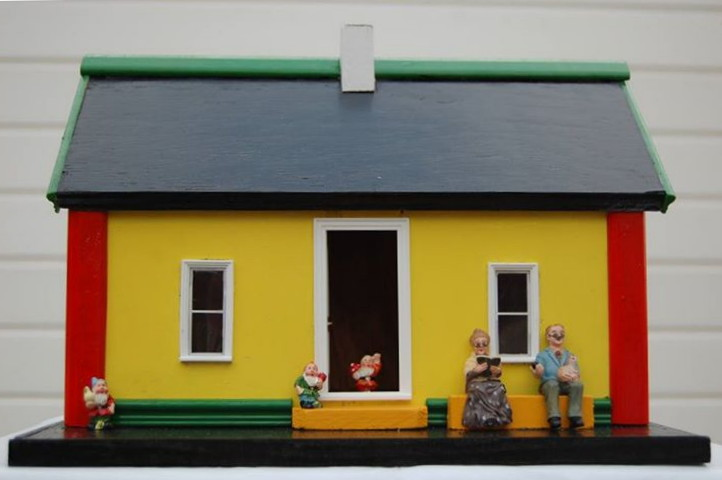 Hand Crafted Wooden Irish Cottage