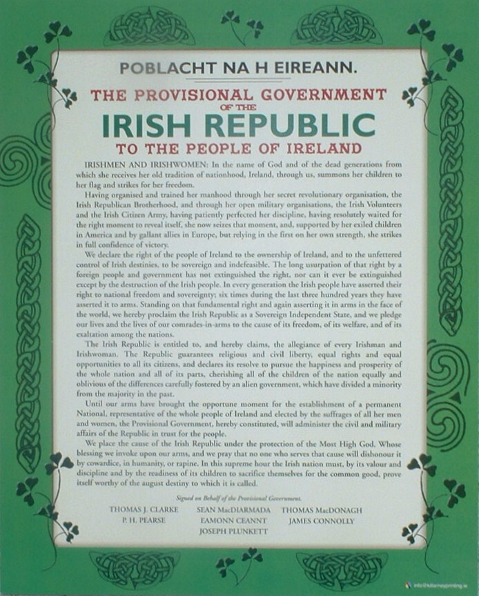 Proclamation of Independence A4 Wall Plaque