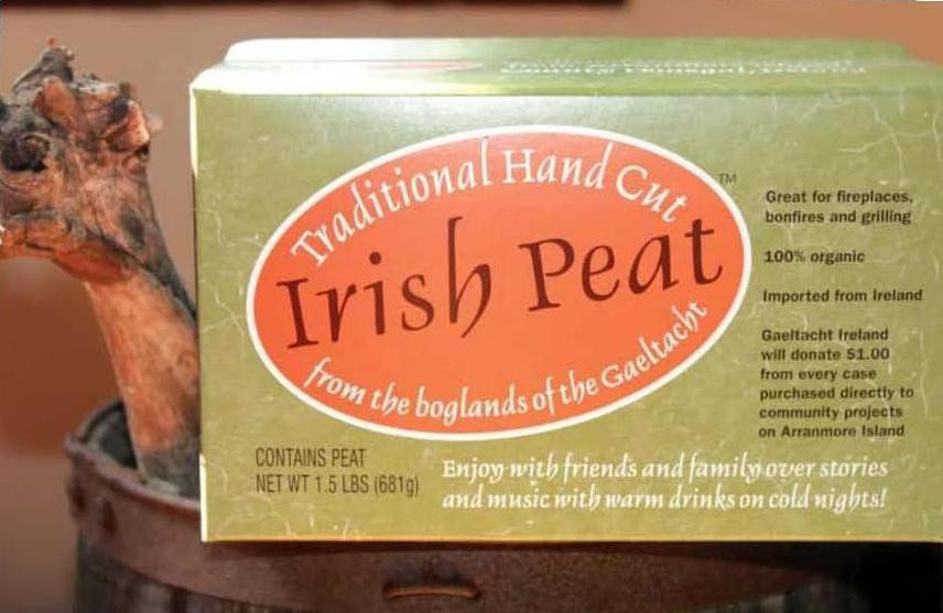 Traditional Hand Cut Irish Peat Turf - One Souvenir Box