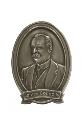 James Connolly Bronze Wall Plaque 6""