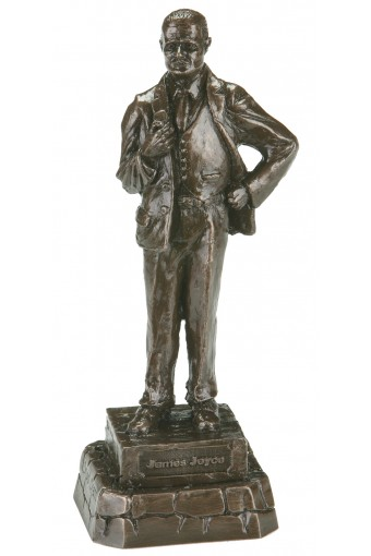 James Joyce Bronze Statue 9.2""