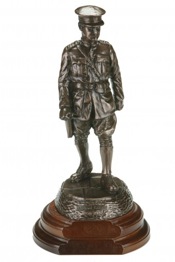 Michael Collins Large Bronze Statue With Wooden Base 14.8""