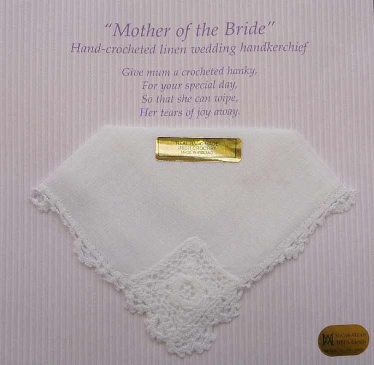 """ Mother of the Bride "" Linen Handkerchief"