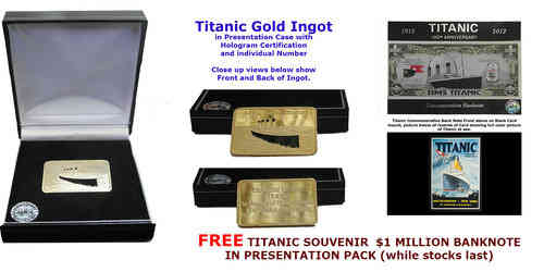 Titanic Ingot | 24K Gold Layered | Limited Edition