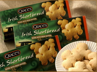 Graces Irish Shamrock Shaped Shortbread 135g